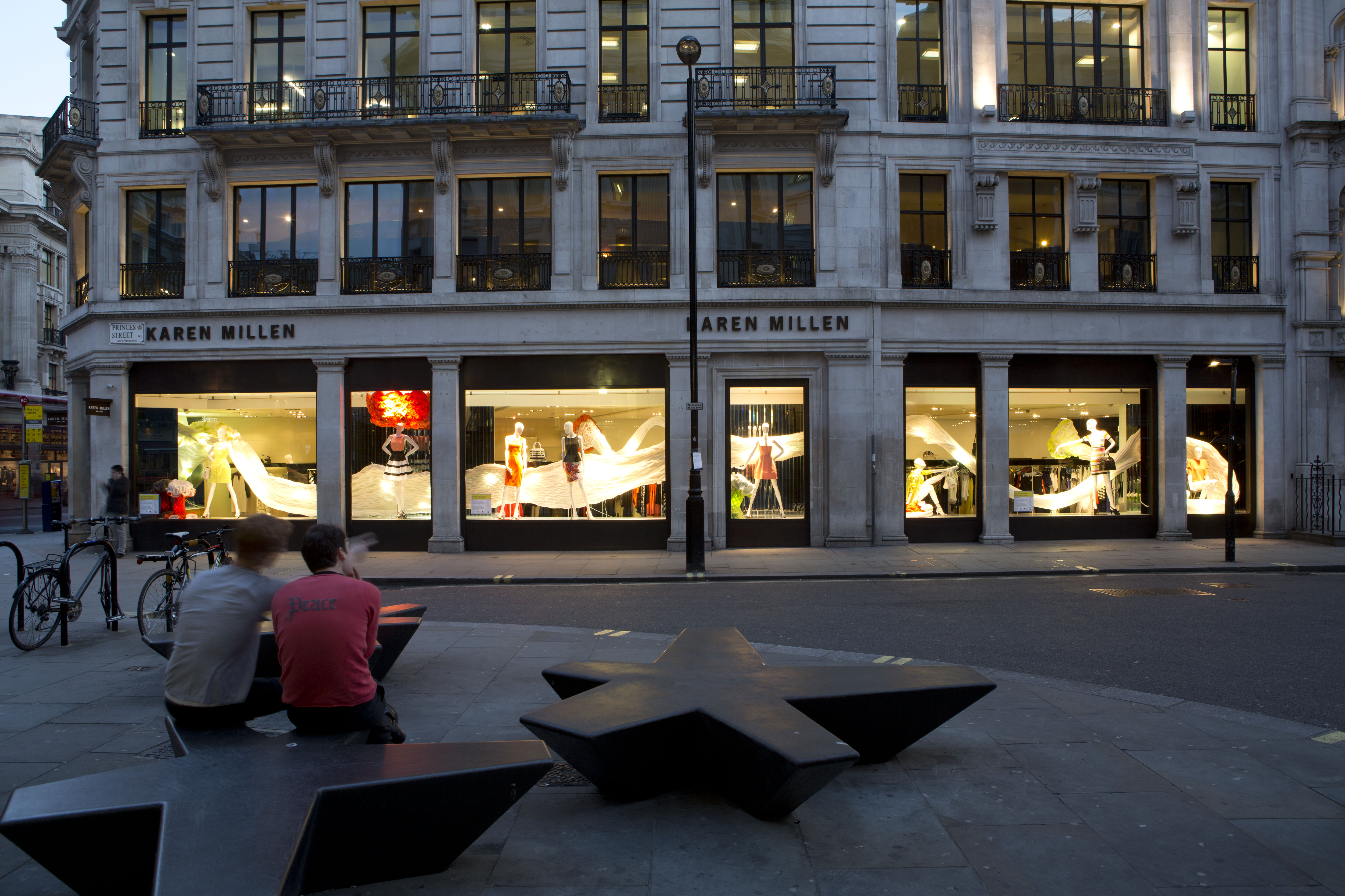 The regent street windows project 2012 - Arthur Mamou Mani Sitting With Jack Munro Discussing The Karen Millen Project Photo By Agnesesanvito