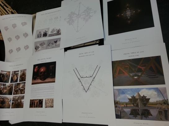 Thanasis Korras - Memento Mori Temple - Winner of the Burning Man Festival Grant - Recursive Koch Structures