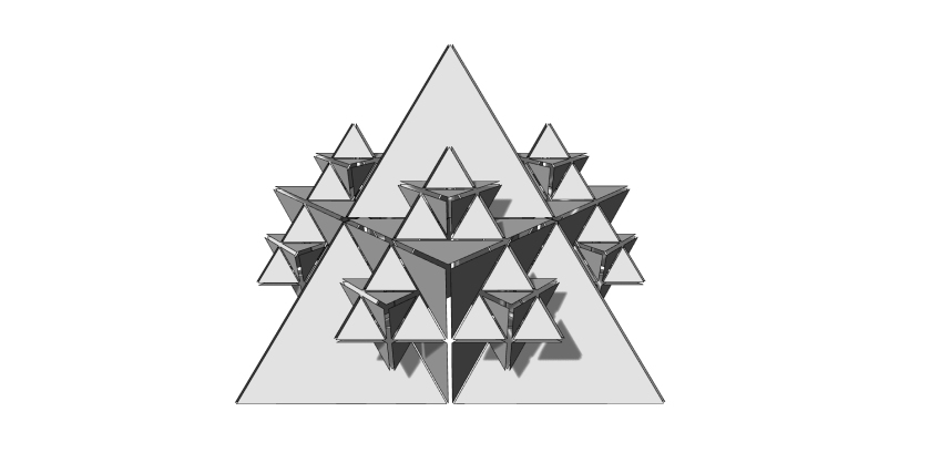 View of the 3D model of Fractal Cult
