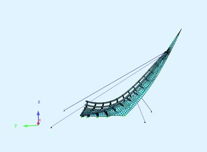 Ramboll Structural Analysis - showing new location for  ropes
