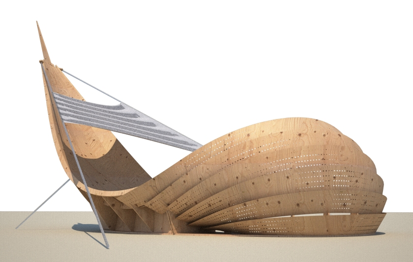 Shipwreck final files sent to fabrication - Updated Render - Note: The sail and light might change