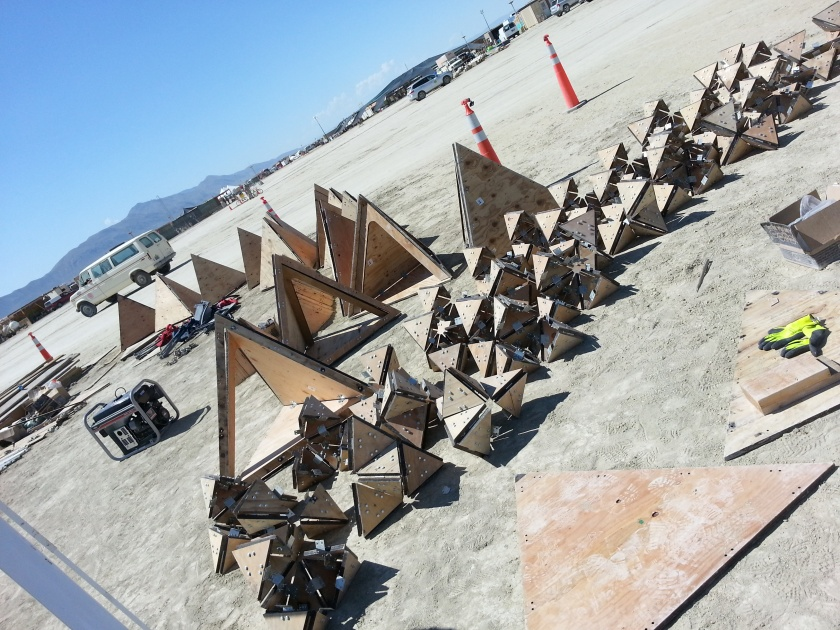 The Fractal Cult pods being assembled.