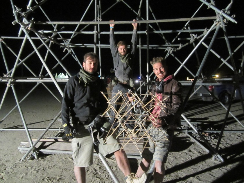 Fractal Cult's scaffolding assembly is based on this smaller physical model