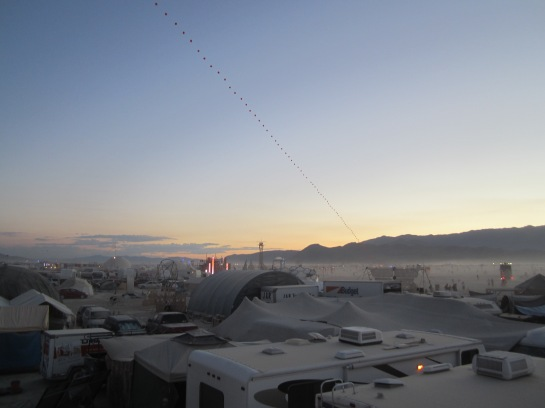Burning Man Camps and Playa at Sunrise