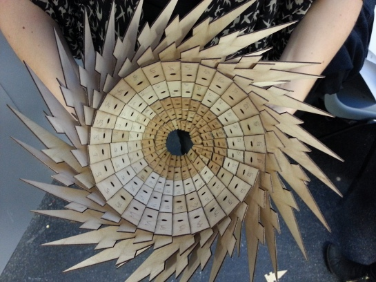 Natasha Coutts' stacking spiky shingles system
