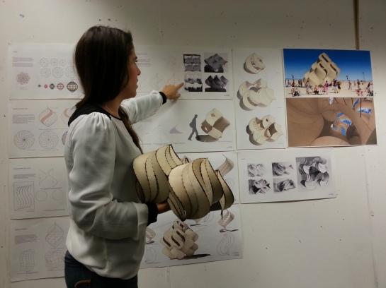 Jessica Beagleman's Plywood Spiralohedrons