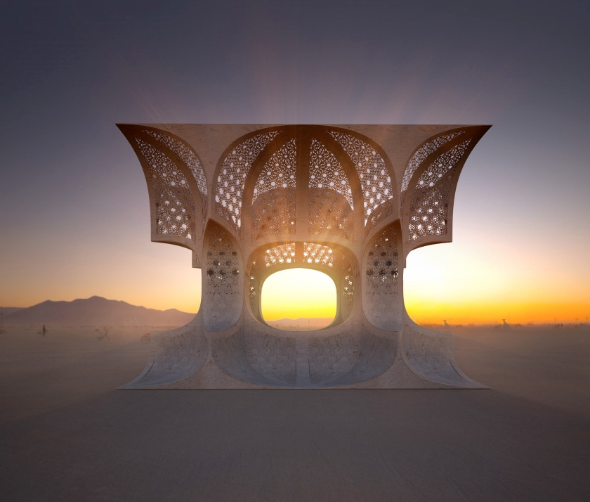 Josh Haywood - WeWantToLearn.net - Hayam, Temple to Sunshine for Burning Man 2014