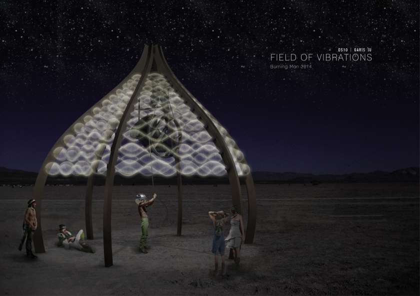 Field of Vibrations at night