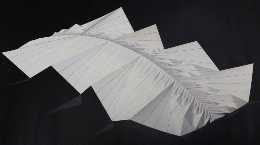 Charlotte Yates Fashion Week Recursive Origami Pavilion