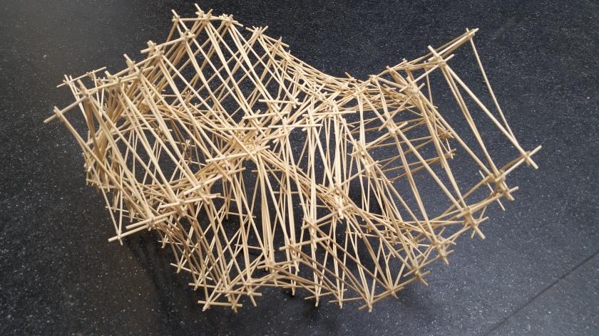 Dhiren Patels Recursive Bamboo Structures for Durga Puja