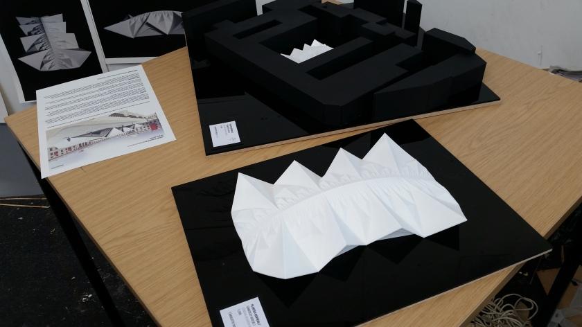 Charlotte Yates' London Fasion Festival Origami Catwalk