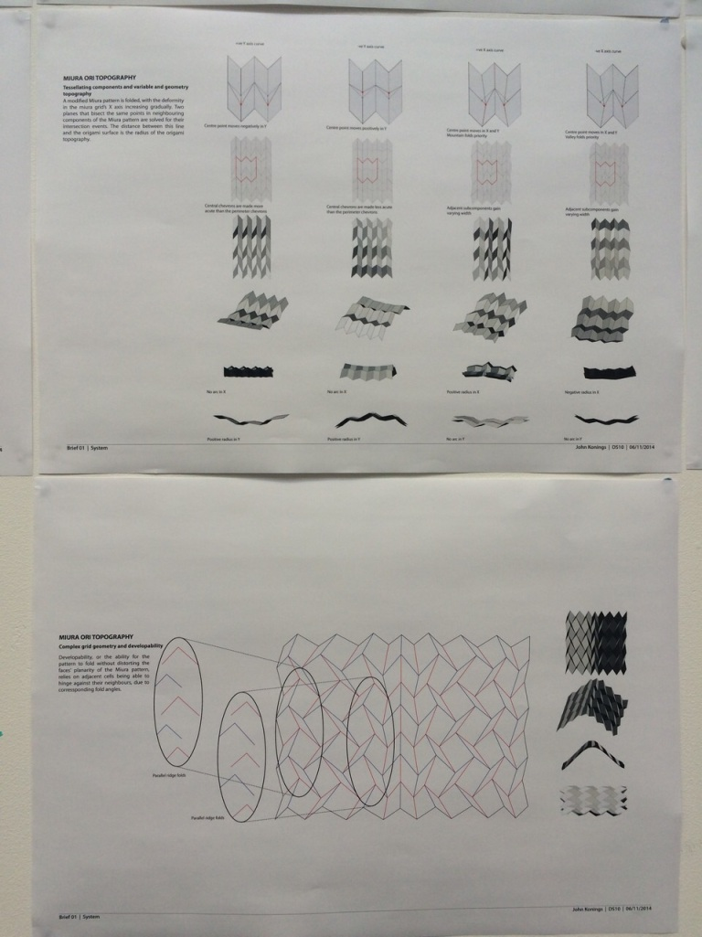 Miura-Ori studies by John Konings