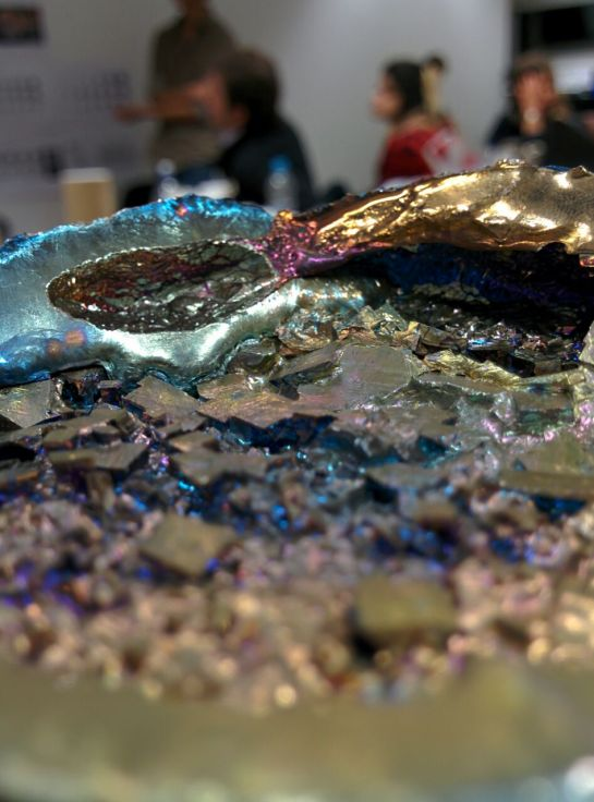 Jonathan Leung creating his own Bismuth Crystals