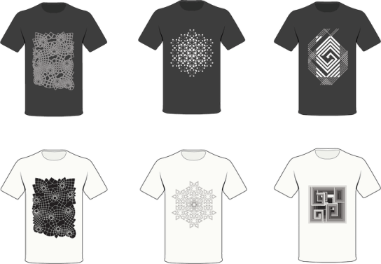 Left: Infinity Clothing, Middle: Reflection Clothing, Right: Bismuth Clothing