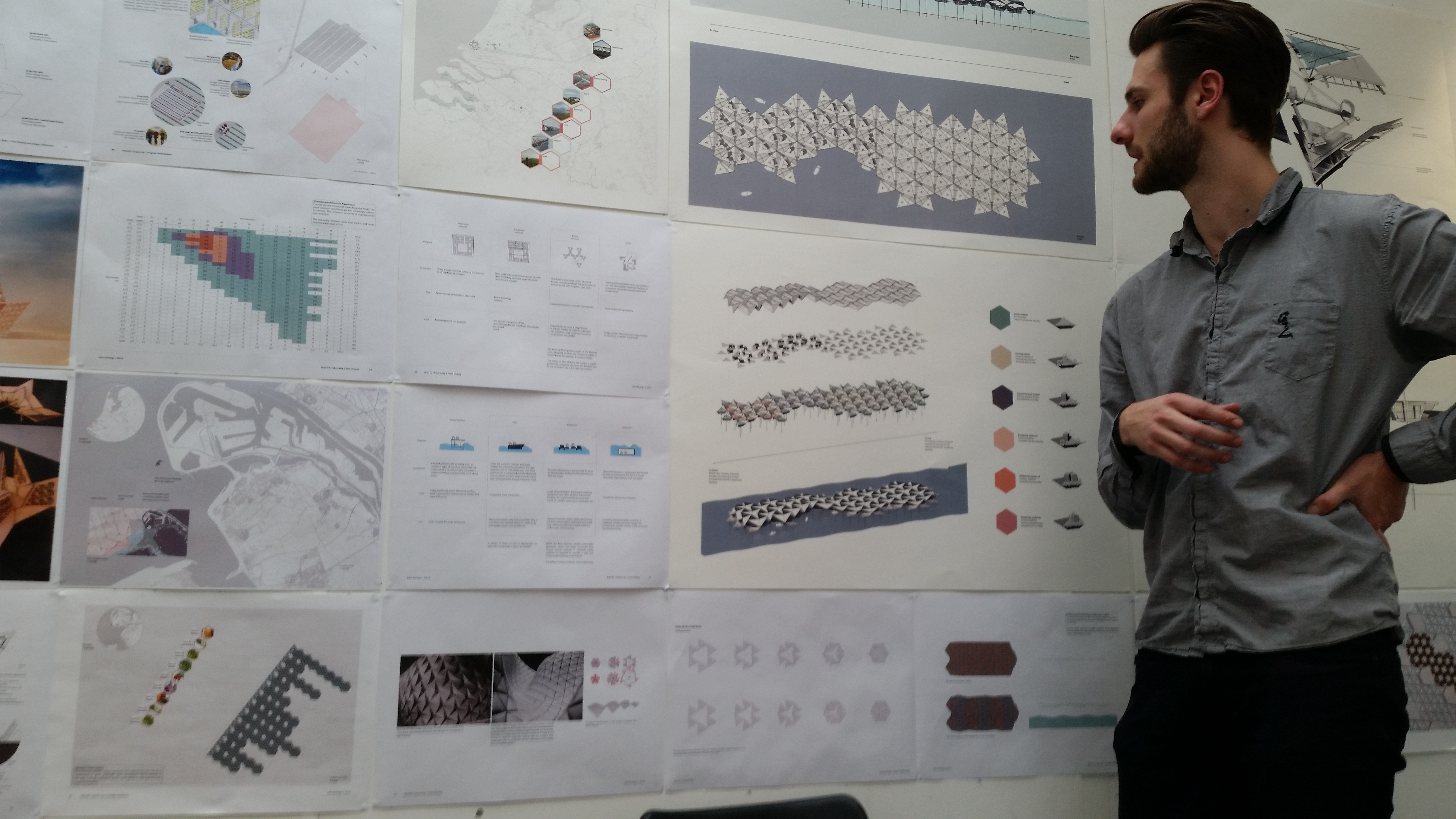 John Koning's power generating Ron Resch origami city