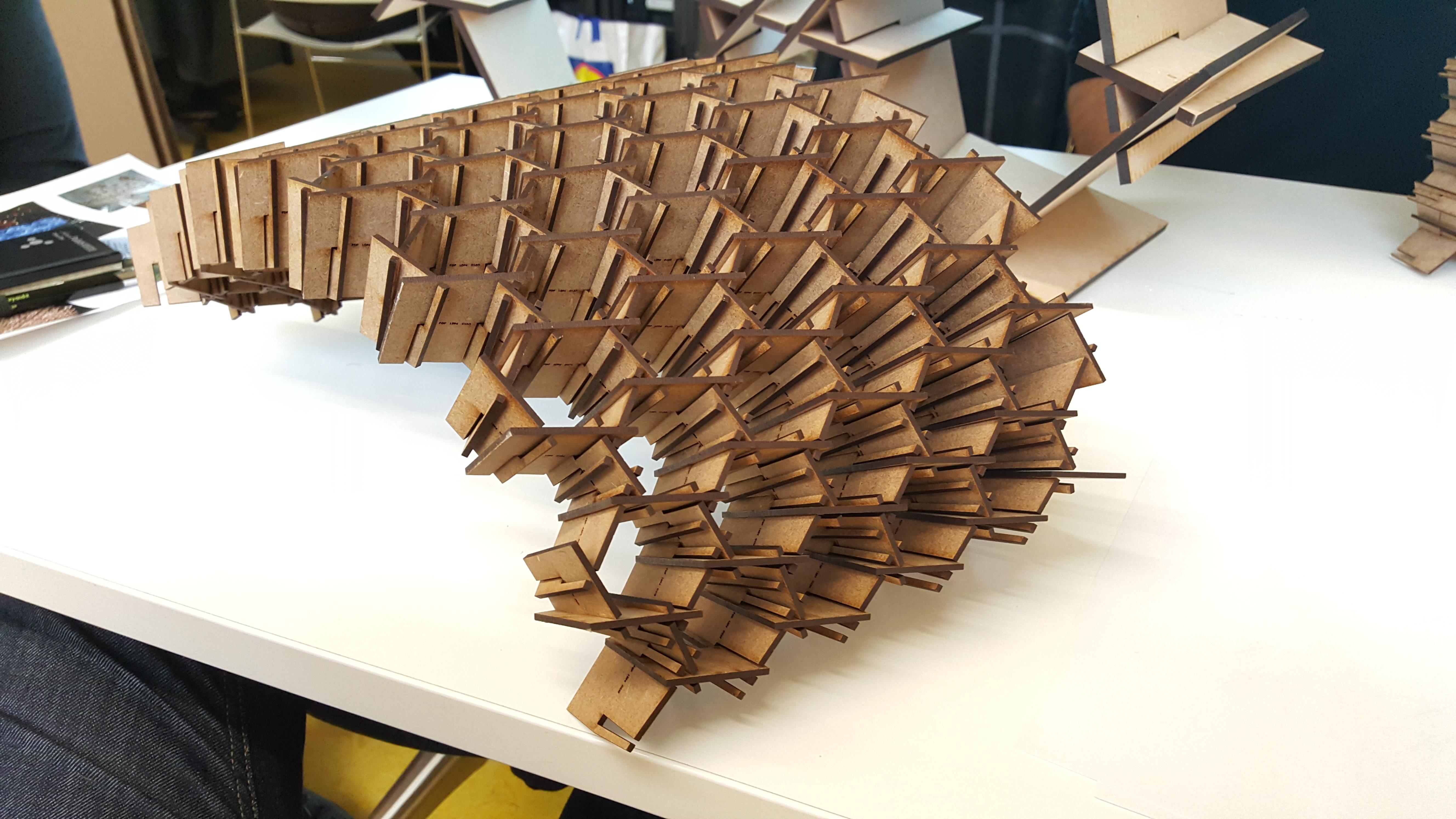Variations on interlocking hexagons by Vlad Ignatescu