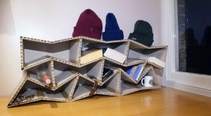 Table Top Cardboard Shelves
