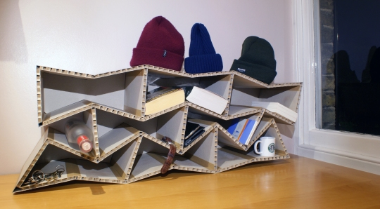 Table Top Cardboard Shelves