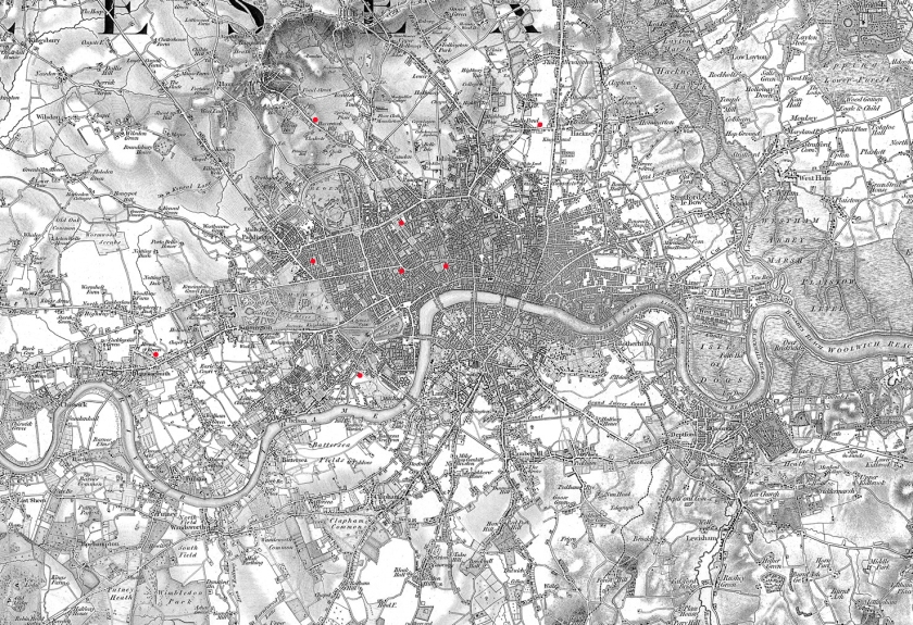 London holy doors map