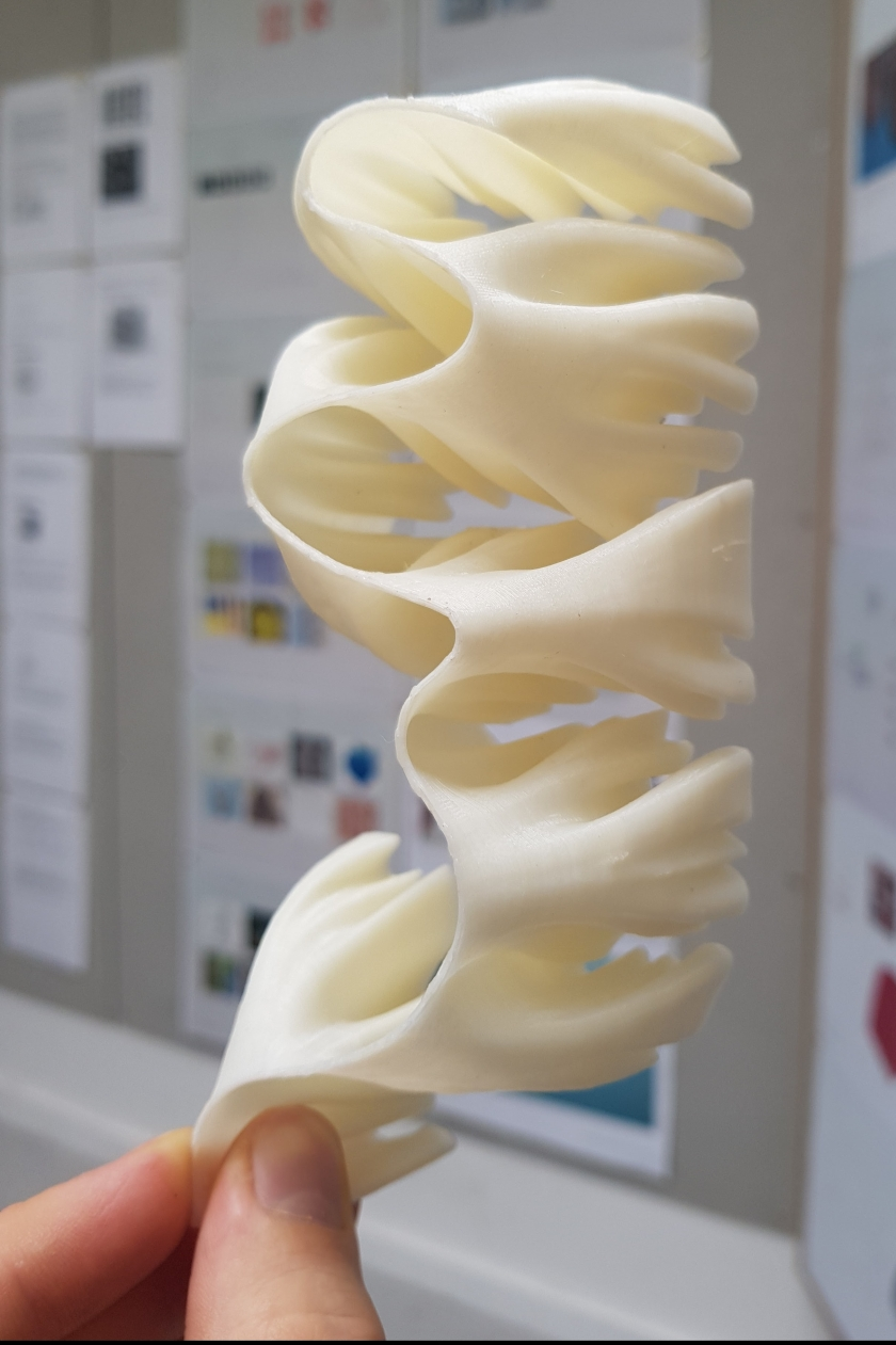 Nick Leung's 3D prints of the different recursive steps of a space-filling curve