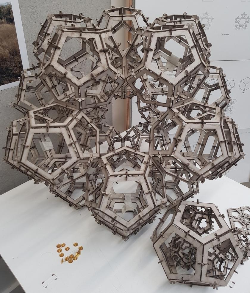 Ed Mack's laser-cut Fractal Dodecahedron.