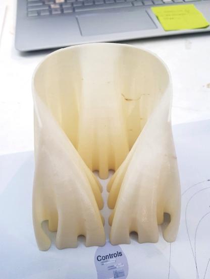 3D Printed Developing Hilbert Curve