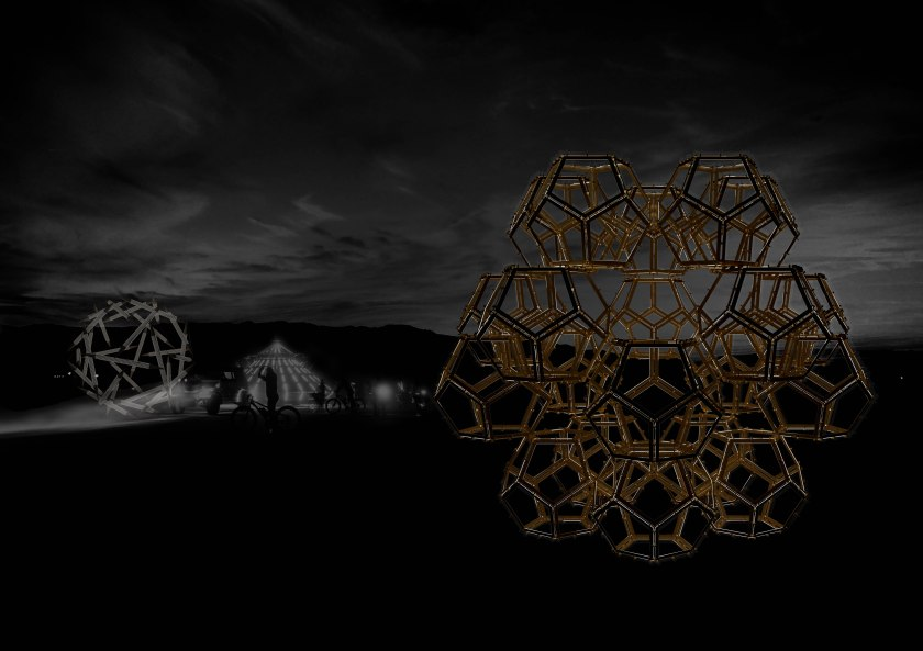 Burning Man night render